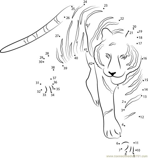 printable animal dot to dots tiger at see dot to dot printable worksheet connect the dots