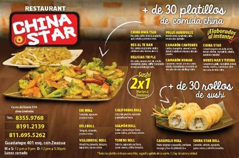 nuestro menu picture  china star guadalupe tripadvisor