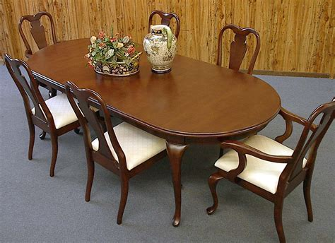 queen anne dining room sets 7 piece 8ft queen anne mahogany dining table and chair set
