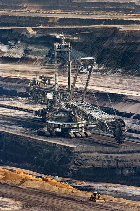 stock photo  brown coal bucket wheel excavators
