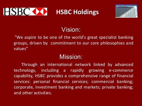 nissan mission statement hsbc holdings vision quot we aspire