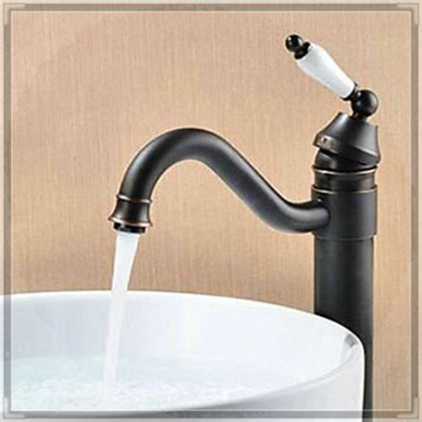 bronze kitchen sink faucets single handle waterfall spray kitchen faucet rubbed