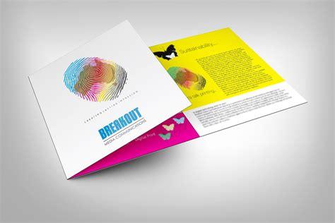 leaflet design printing brochure design for breakout media by dkthedon design