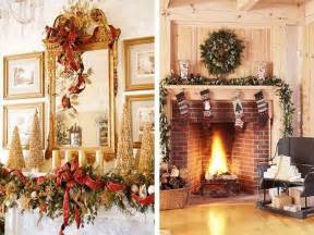 lovely Xmas Mantelpiece Decoration Ideas #7: Easy-Christmas-Fireplace-Decorating-Ideas.jpg