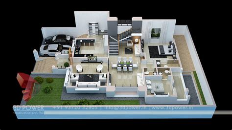 3d house plan with the implementation of 3d max modern gallery 3d architectural rendering 3d architectural