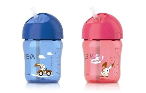 Avent Straw Cup 12mbotol Minum Sedotan Avent 260ml philips avent straw cup asibayi
