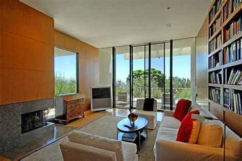 floor to ceiling glass walls take advantage of the bel air