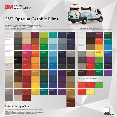 3m vinyl colors 3m opaque vinyl color chart intermediate vinyl ayucar