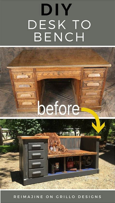 desk designs diy diy desk to bench grillo designs