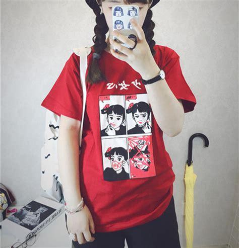 Yakult Kawaii Japanese Harajuku Tshirt kawaii clothing camiseta pintalabios lipstick t shirt