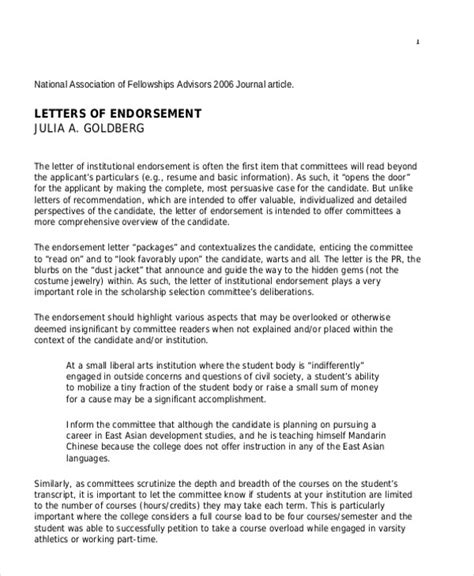 Endorsement Letter Sle Pdf Letters In Pdf