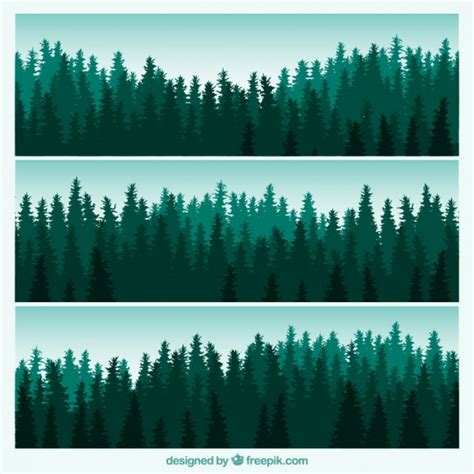 template forrest forest banners vector free