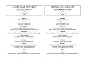 memorial service templates free best photos of funeral service program template sle