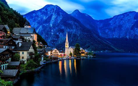 Landscape Cityscape Definition Top Hallstatt Austria Hd Wallpapers Wallpapers