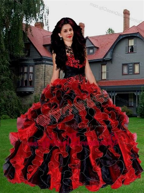 red and black lace quinceanera dresses Naf Dresses