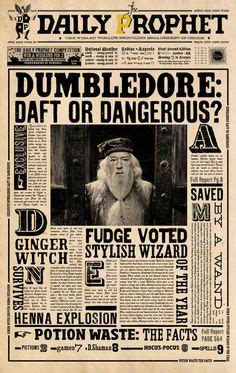 harry potter daily prophet printable | daily prophet