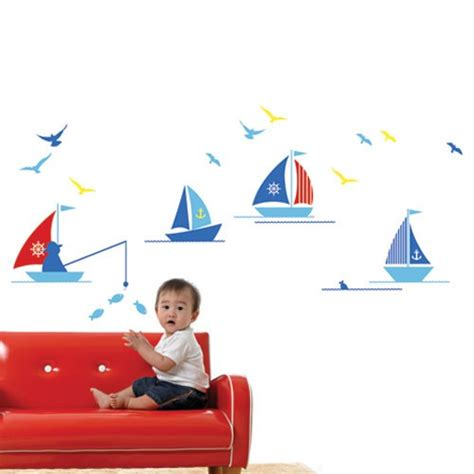 toddler wall stickers wall decal boats children wall stickers