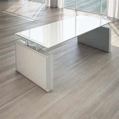 scrivanie in cristallo per ufficio scrivania per ufficio 200 cm top cristallo linekit