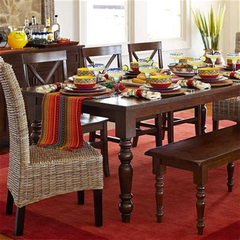 pier 1 torrance dining table build your own torrance mahogany brown turned leg dining