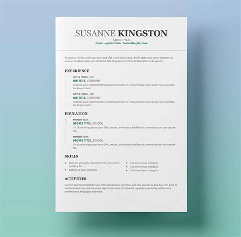 7 free resume templates primer free word resume templates