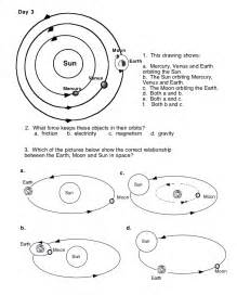 sun moon earth model worksheet page 4 pics about space