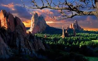 Garden Of The Gods Wallpaper Landscape Sunset In The Garden Of The Gods