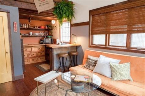 the rustic modern tiny house tiny living portland couple builds eclectic backyard guesthouse with