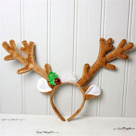 best photos of reindeer headband template free reindeer