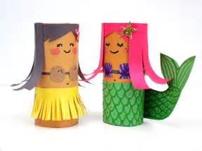 Paper Rolls Craft - mollymoocrafts toilet roll crafts hula and mermaid