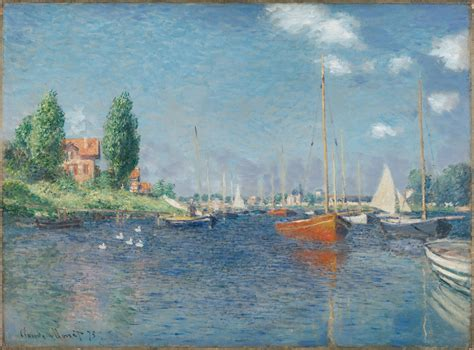 monet boats at argenteuil from the harvard art museums collections red boats