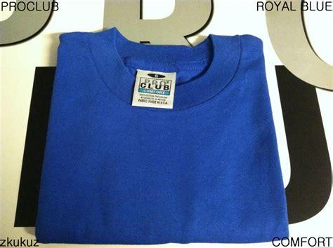 pro club comfort t shirts 2 new proclub comfort plain t shirt blank royal blue tee