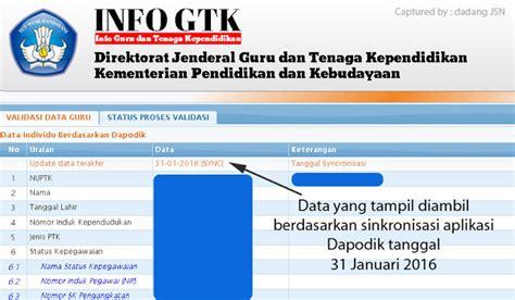 sk inpassing dikdas 2016 cara cek validasi data guru dan status penerbitan sktp