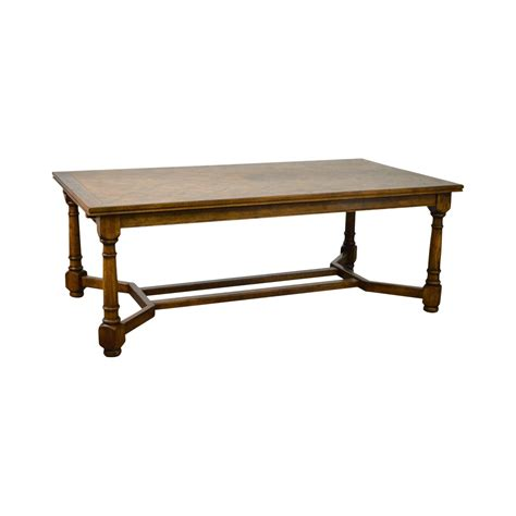 french country large  oak parquet top expanding dining