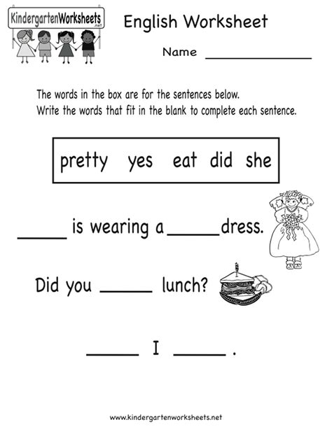 printable esl kindergarten worksheets worksheets for kindergarten english english grammar