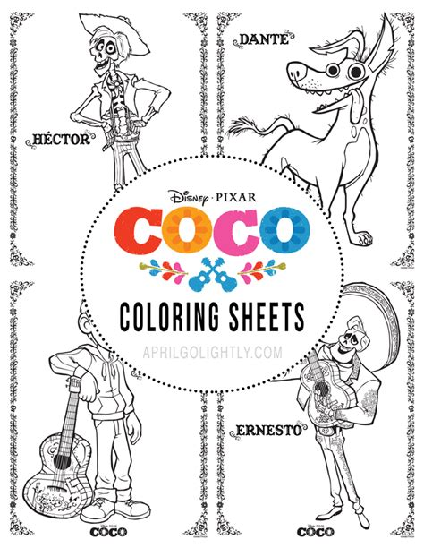 s coloring lounge books disney pixar coco printables activities color sheets