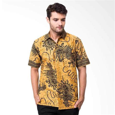 Kemeja Batik Priarangrang Kuning jual batik trusmi hem nf batik kemeja pria kuning harga kualitas terjamin blibli
