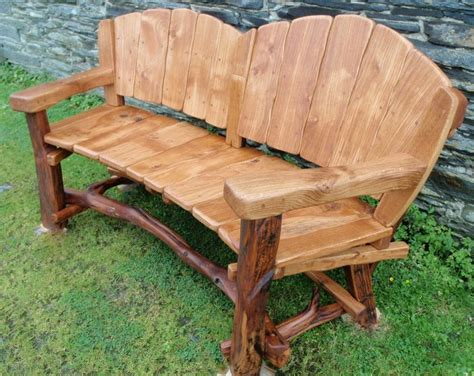 rustic outdoor bench with back rustic wood bench with back rustic garden benches