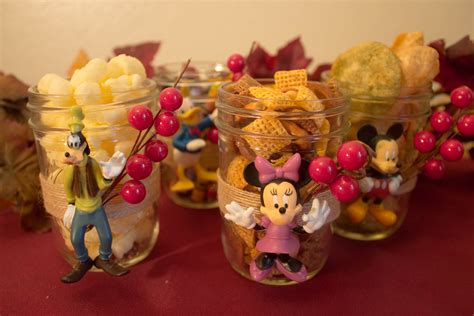 disney themed diy thanksgiving table decor the ribbon ends are after that glue figurines