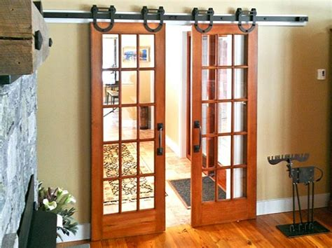 Interior Glass Barn Doors Interior Barn Door Kit With Glass Panel Home Interiors