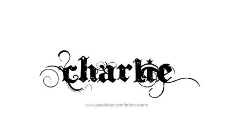 charlie tattoo designs name designs