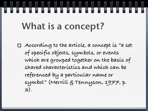 What Is Concept | teaching concepts