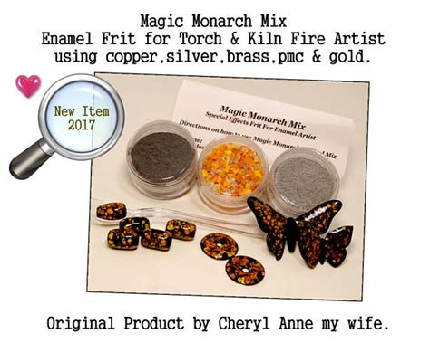 enamel glass frit mix for silver gold copper pmc artists magic monarch enamel mix butterfly mix by cheryl anne