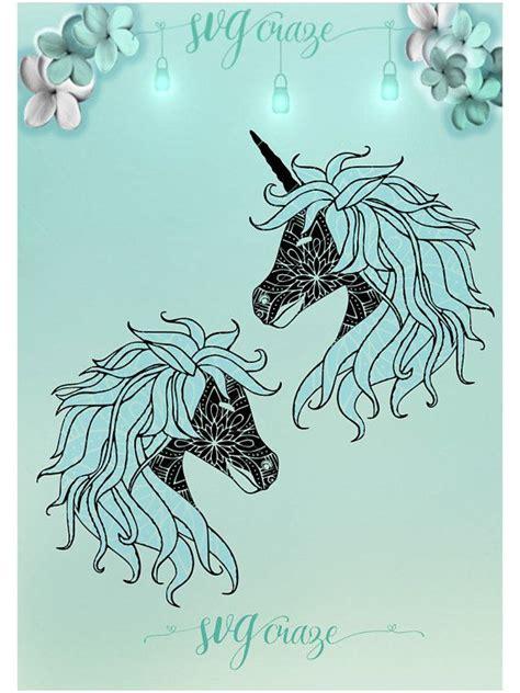 unicorn horse mandala zentangle bundle svg dxf eps  png