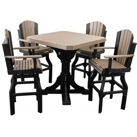 counter height table with swivel chairs poly 41 quot square table set