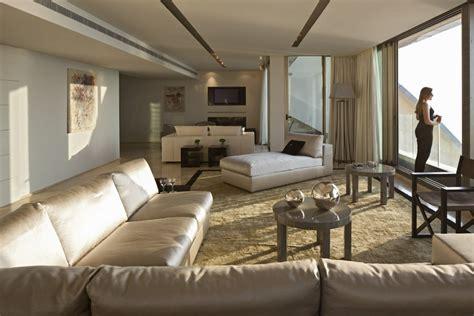 armani home interiors neutral lounge l shaped sofa interior design ideas