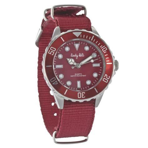 lade in acciaio orologi lili eleganza rosso