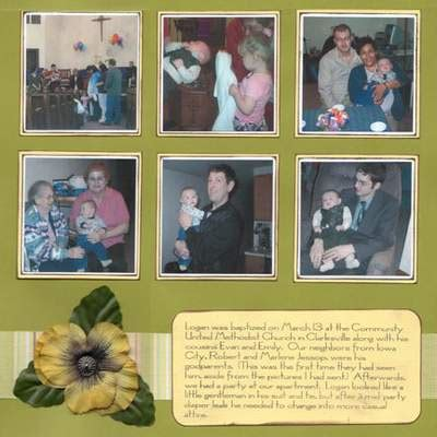 scrapbook layout ideas baby christening baptism