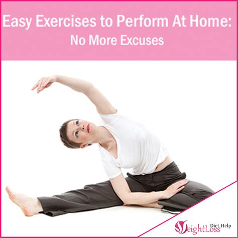 easy exercises to perform at home no more excuses