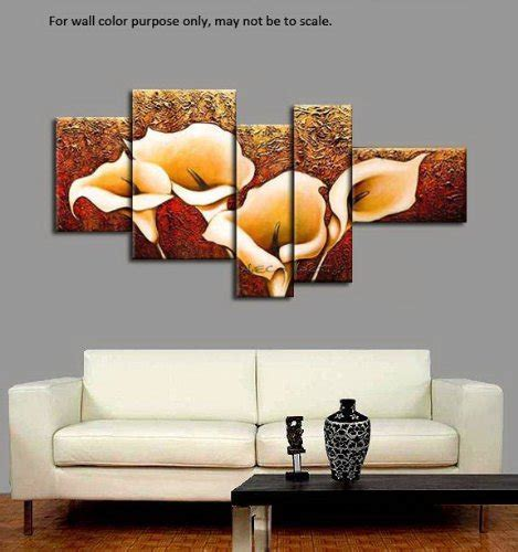 wieco art  piece calla lily stretched  framed modern