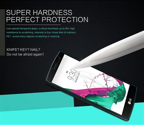 Tempered Glass For Lg G4 Beat nillkin amazing h tempered glass screen protector for lg